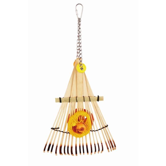 """Игрушка Fauna INT """"Бамбуковые грабли"""", для птиц, малые"""