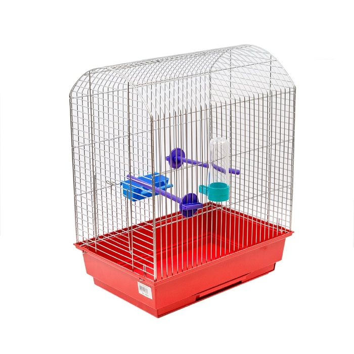 "Клетка для птиц ""Агат"", укомплектованная, 37 х 26 х 48 см, микс цветов"