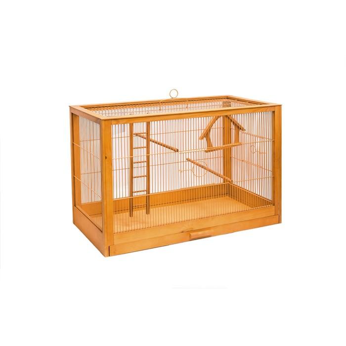 """Клетка для птиц из массива дерева """"Летняя веранда-2"""", без наполнения, 31 х 23,5 х 25см, клён   45010"""