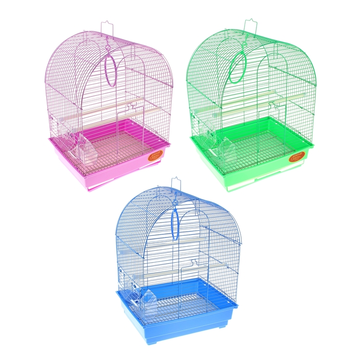 "Клетка для птиц ""Gold"" (полукруглая крыша), 35 х 28 х 43 см"