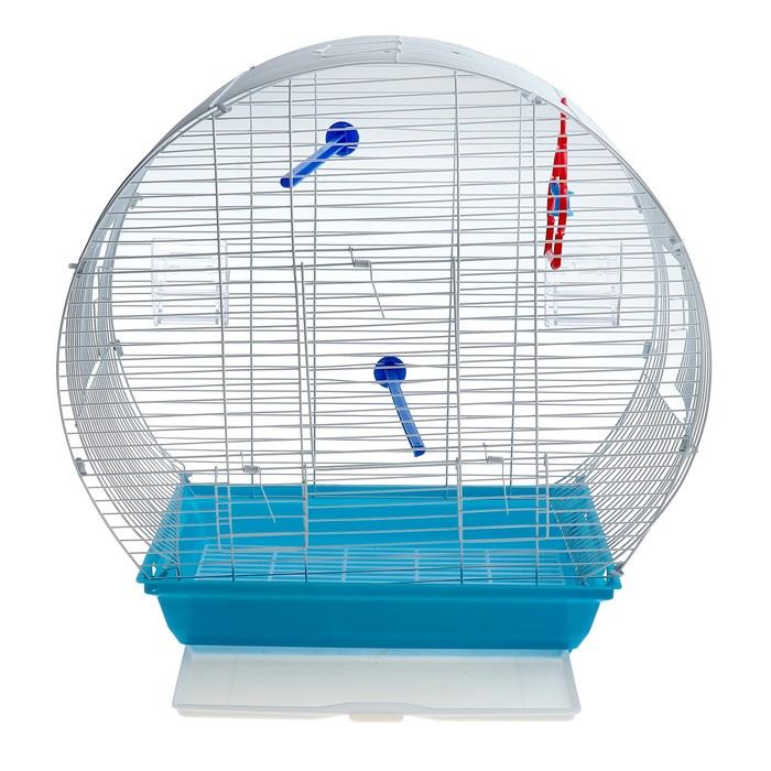 Клетка для птиц 37 х 28 х 45 см, микс цветов