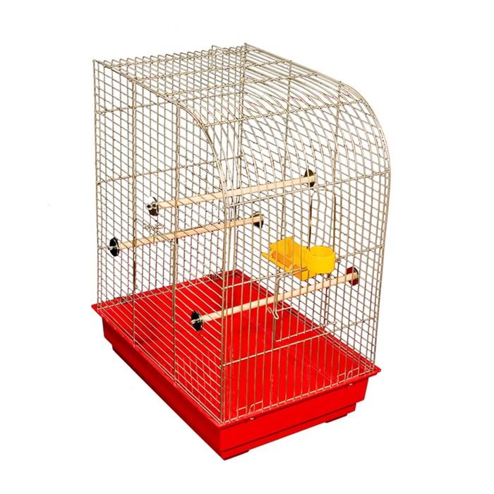 "Клетка для птиц ""Чижик"", укомплектованная, 41 х 30 х 53 см, микс цветов"