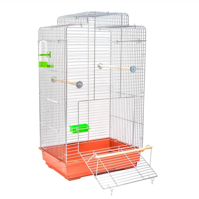 "Клетка для птиц ""Феникс"", укомплектованная, 41 х 30 х 73 см, микс цветов"