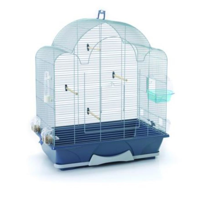 Клетка для птиц MELODIE 50 серебро/голубая