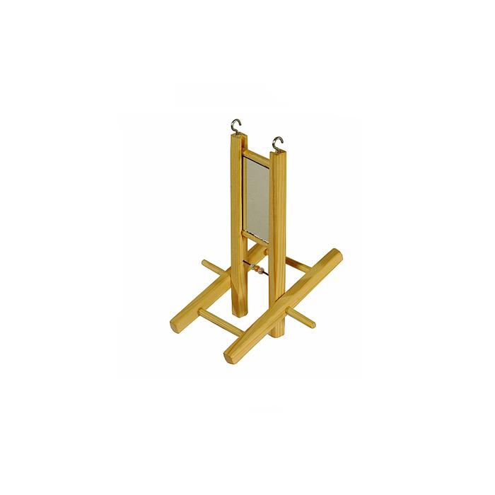 Лесенка-качели для птиц в клетку деревянная, 14 х 11 х 18 см