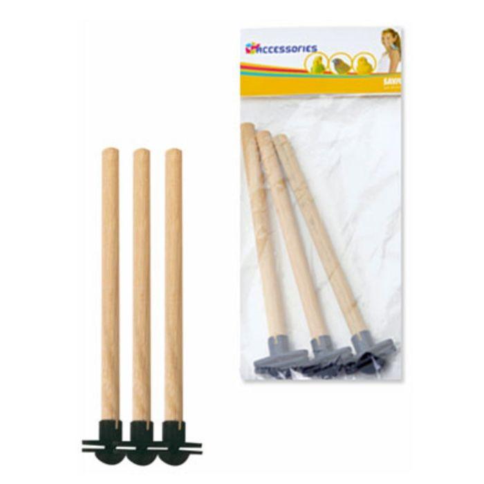 Жердочки для птиц, пластик, 18 х 1.2 см, 3шт/уп