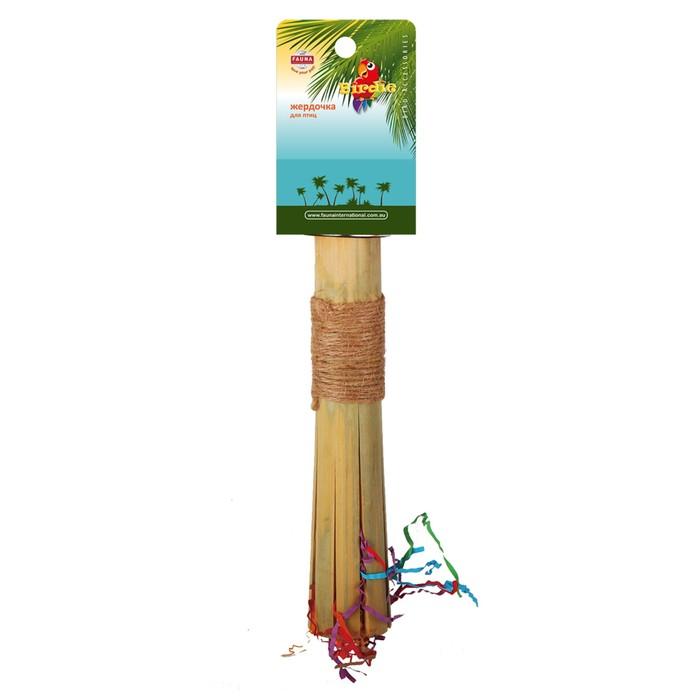 Жердочка Fauna INT, для птиц, 22,8х3,8см, бамбук