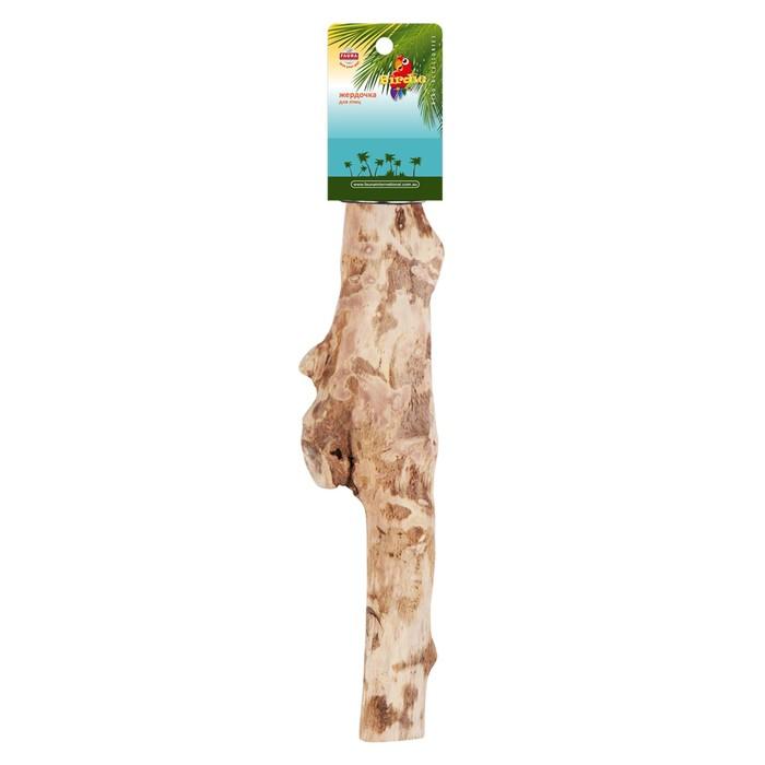 Жердочка Fauna INT, для птиц, 34х5см, прямая, ветвь
