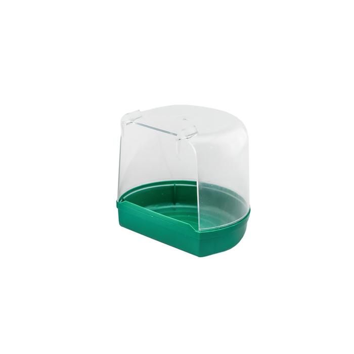 Купалка для птиц, внешная, малая, прозрачная, 12 х 9 х 11 см, микс цветов