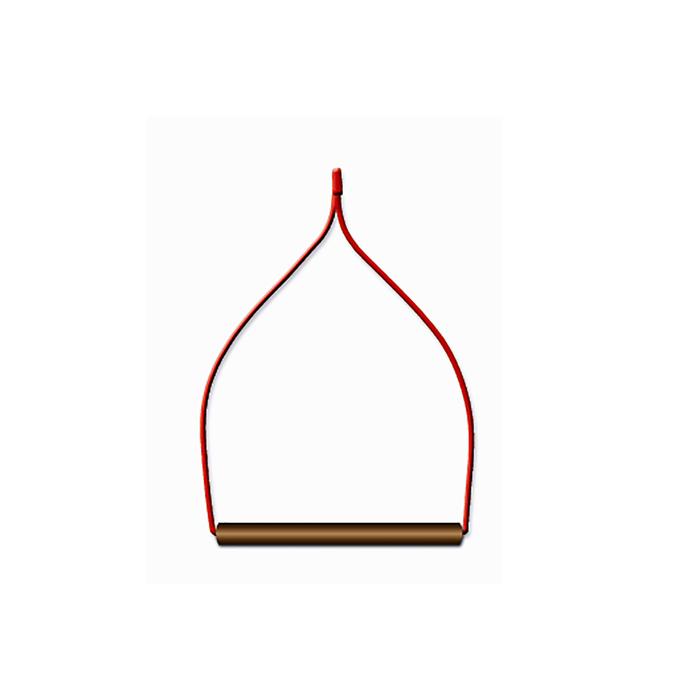 Качели для птиц в клетку деревянные, фигурные 13 х 0,8 х 16 см