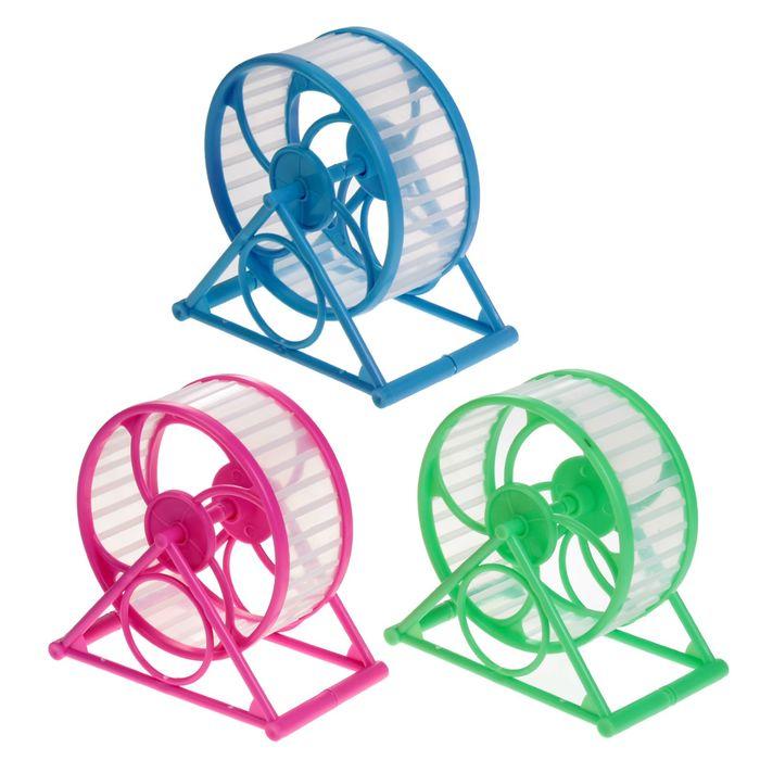 Колесо на подставке для грызунов, диаметр колеса 12,5 см, 14 Х 14 Х 9 см, микс цветов