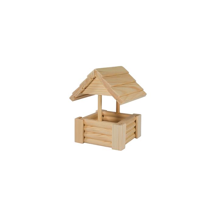"""Игрушка для грызунов в клетку """"Колодец"""" малый, 12 х 12 х 16  см, массив дерева"""