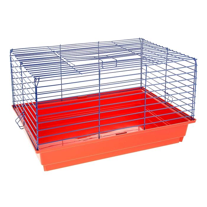 Клетка для кроликов № 2, 60 х 40 х 26 см микс цветов