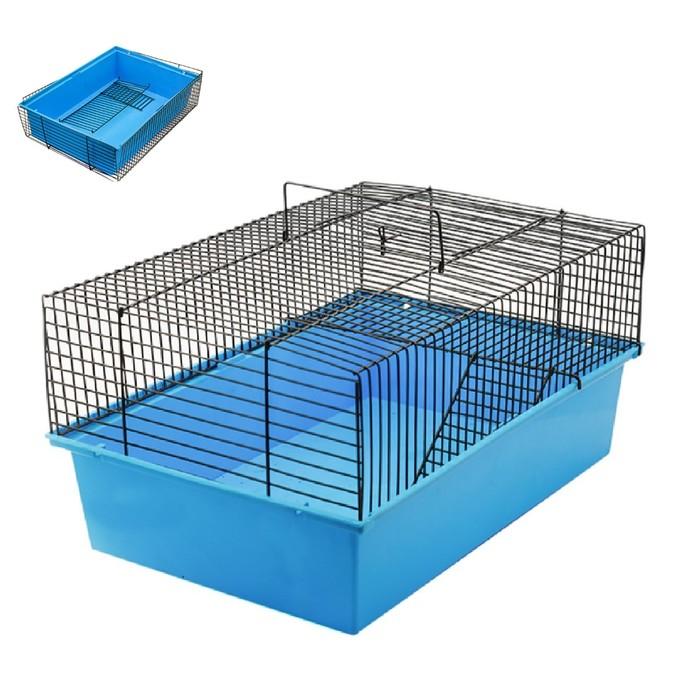 """Клетка для грызунов с этажом """"Пуся"""", разборная, без наполнения, 37 х 26 х 18 см, микс цветов   45009"""
