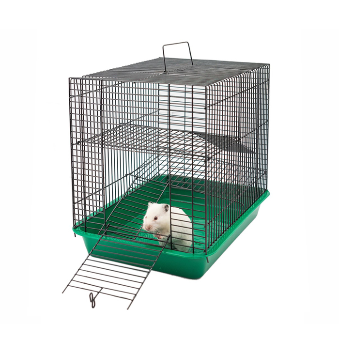 """Клетка для грызунов """"Гоша-3"""" с 2-я этажами, без наполнения, 33 х 24 х 28 см, микс цветов"""