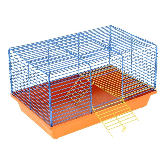Клетка для джунгариков 2-этажная, 36 х 24 х 23 см микс цветов