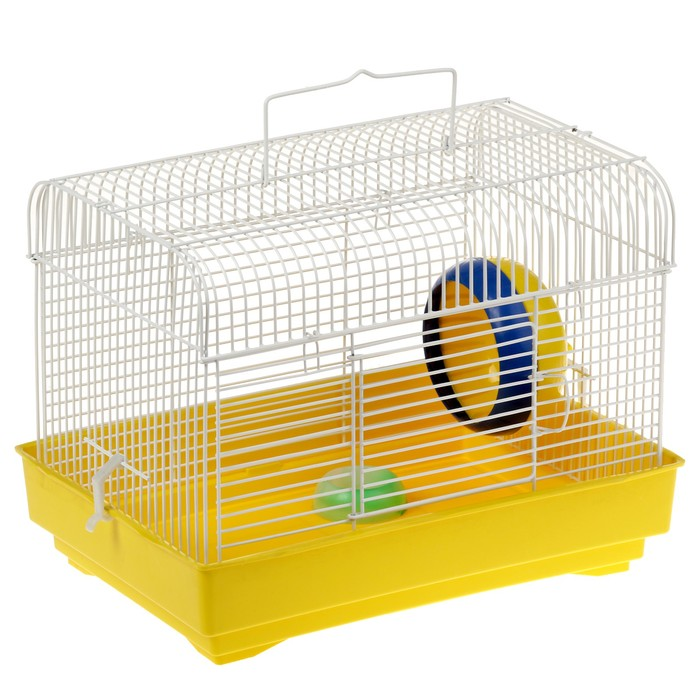 Клетка  для грызунов (колесо+миска), 32 х 22,5 х 23 см