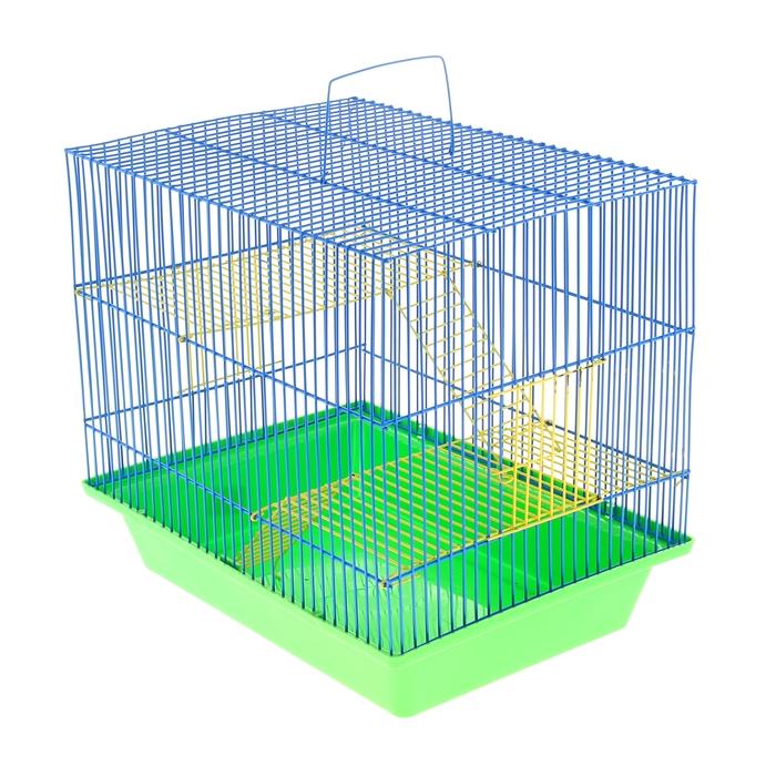 """Клетка для грызунов """"Гризли 3"""" с металлическими полками и лесенками, 41 х 30 х 38 см"""