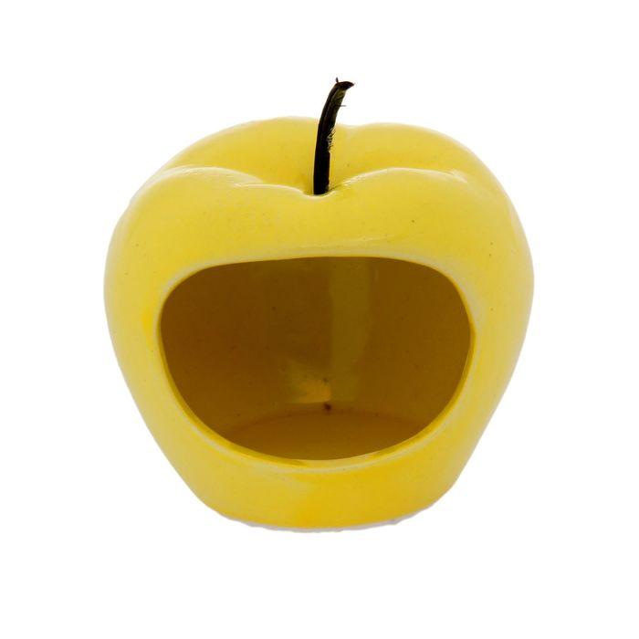 "Кормушка для хомячков ""Яблоко""  цвет желтый"