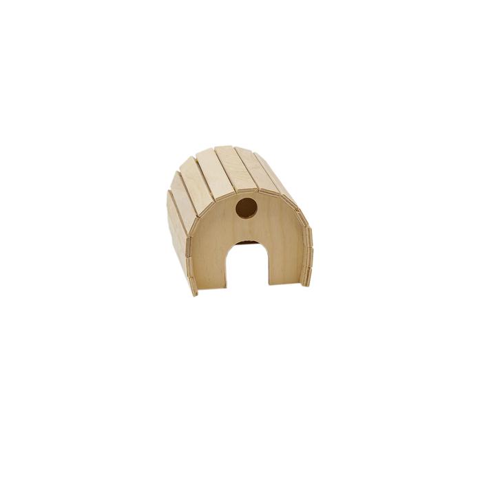 Домик для грызунов полукруглый, 15 х 12 х 10  см, фанера
