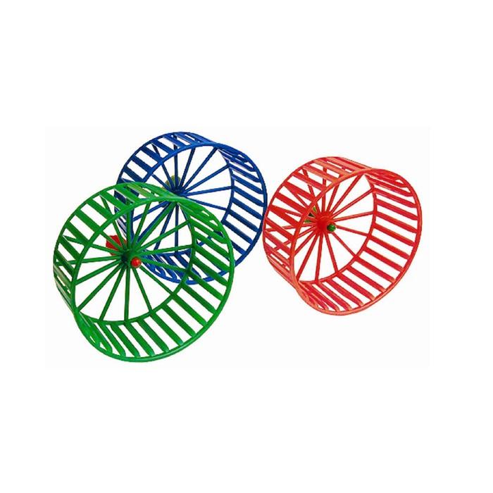 Колесо для грызунов пластиковое, без подставки, 14 см, микс цветов
