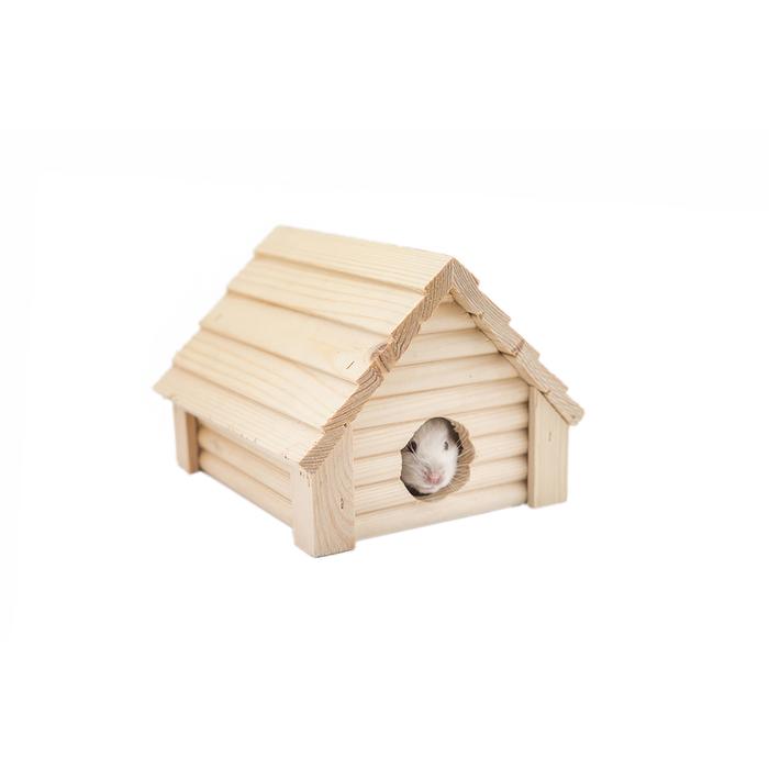 Домик для грызунов малый, 13 х 13,5 х 10 см, массив дерева