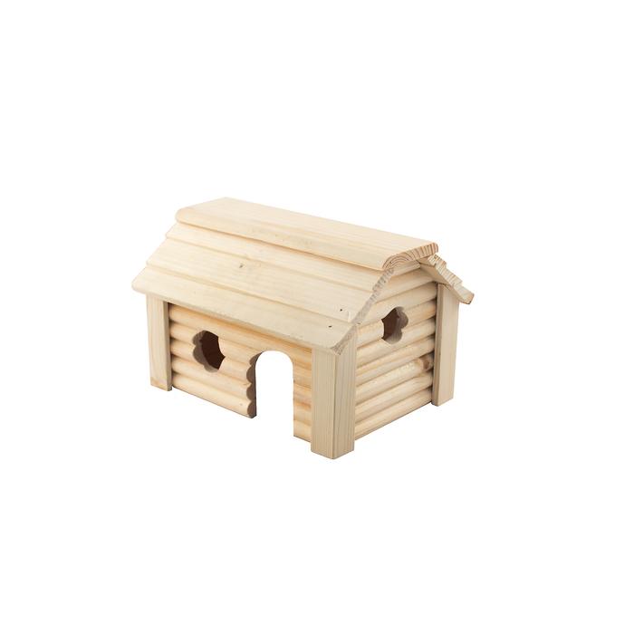 """Домик для грызунов """"Баня"""" 15 х 20 х 12,3 см, массив дерева"""