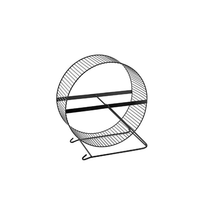Колесо для грызунов металлическое, перекладины, 25 см, черный