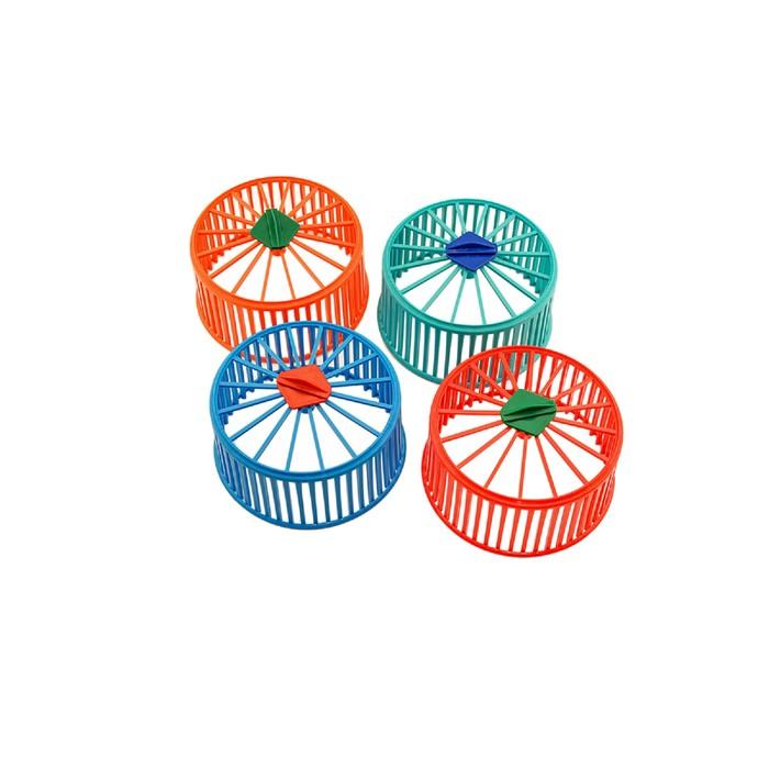 Колесо для грызунов пластиковое, без подставки, 15 см, микс цветов