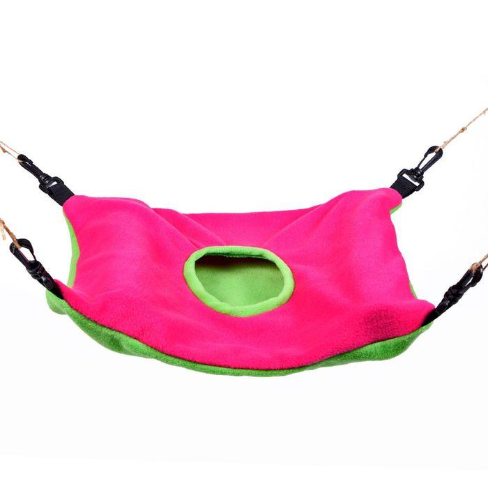 Гамак для хорьков OSSO из флиса с карманом, 43 х 33 см, d 14 см, микс цветов