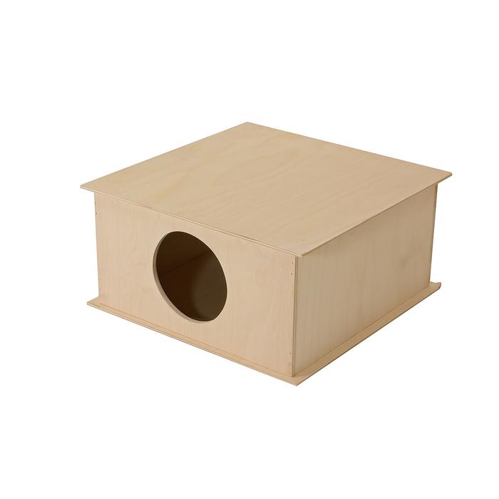 Домик для грызунов параллелепипед, 30 х 30 х 18 см, фанера