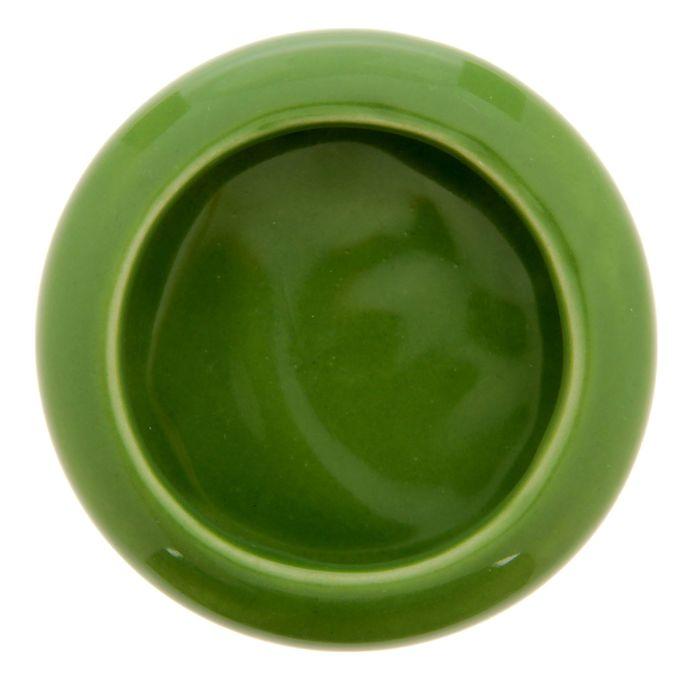 Миска керамическая для грызунов малая, 20 мл, зеленая