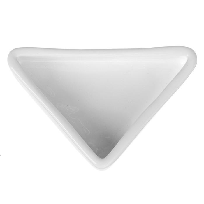 Миска керамическая для грызунов угловая 50 мл, белая