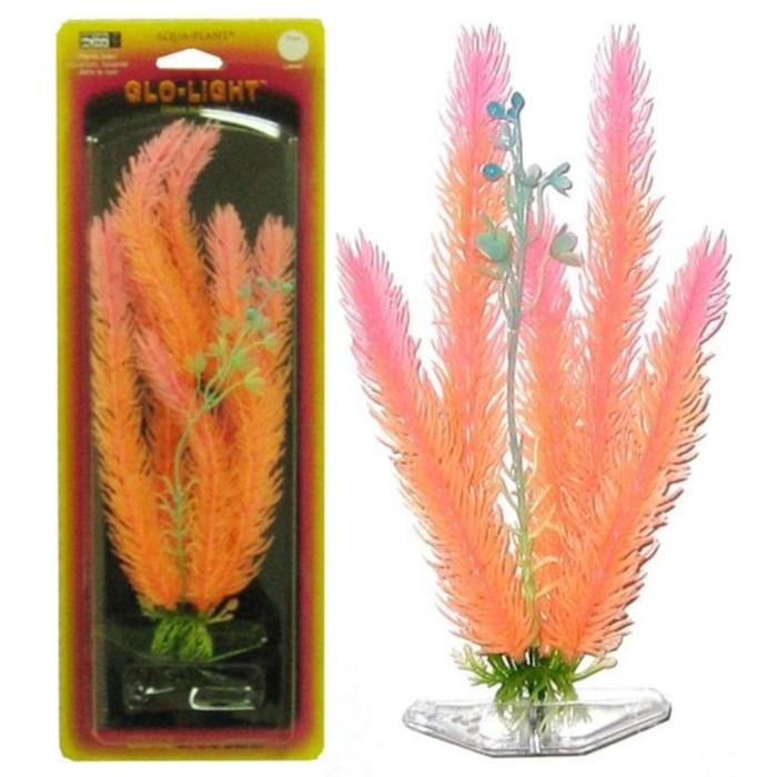 Растение PENN-PLAX CLUB MOSS 27см, оранжево-розовое, светящееся
