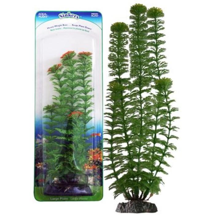 Растение PENN-PLAX AMBULIA, 34см, с грузом, зеленое