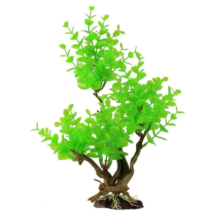 "Декорация  Fauna INT ""Растение на коряге"" №3, 19х11х29см, пластик"