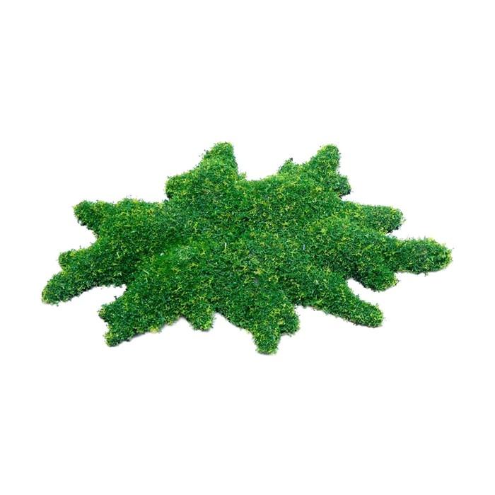 "Декорация Fauna INT ""Зеленый мох"", 16х10х2,5см, пластик"