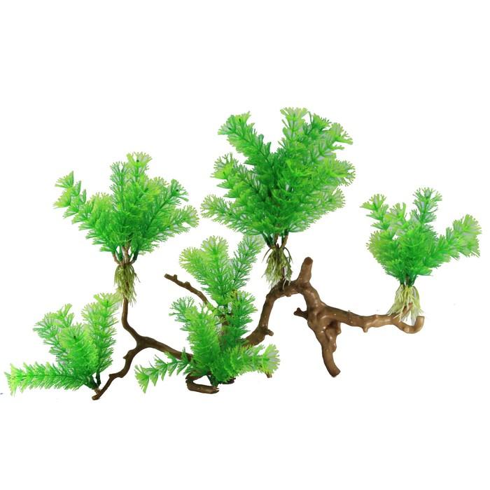 "Декорация  Fauna INT ""Растение на коряге"" №38, 35х10х20см, пластик"