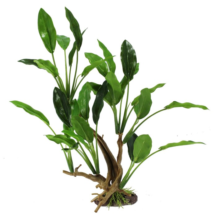 "Декорация  Fauna INT ""Растение на коряге"" №16, 19х11х23см, пластик"