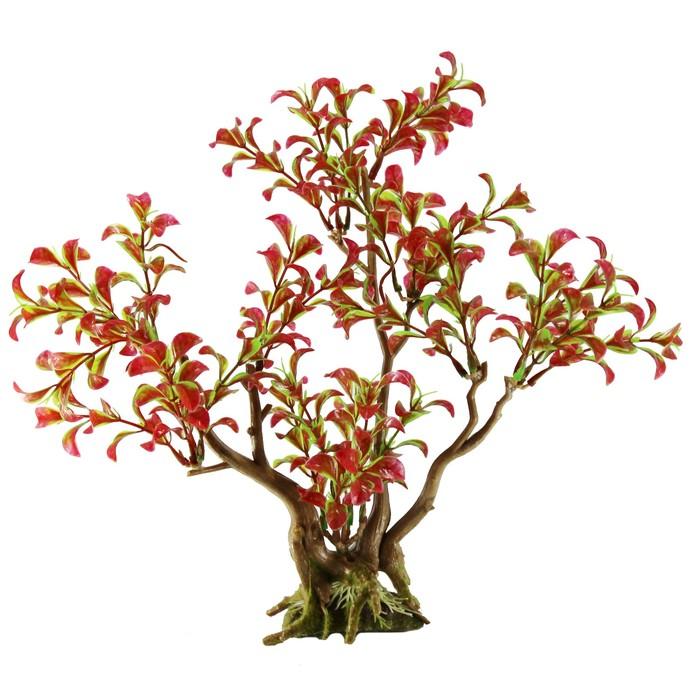 "Декорация  Fauna INT ""Растение на коряге"" №19, 26х14х29см, пластик"