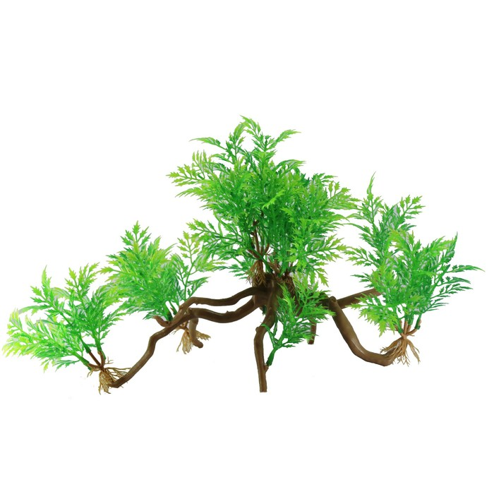 "Декорация  Fauna INT ""Растение на коряге"" №39, 35х10х20см, пластик"