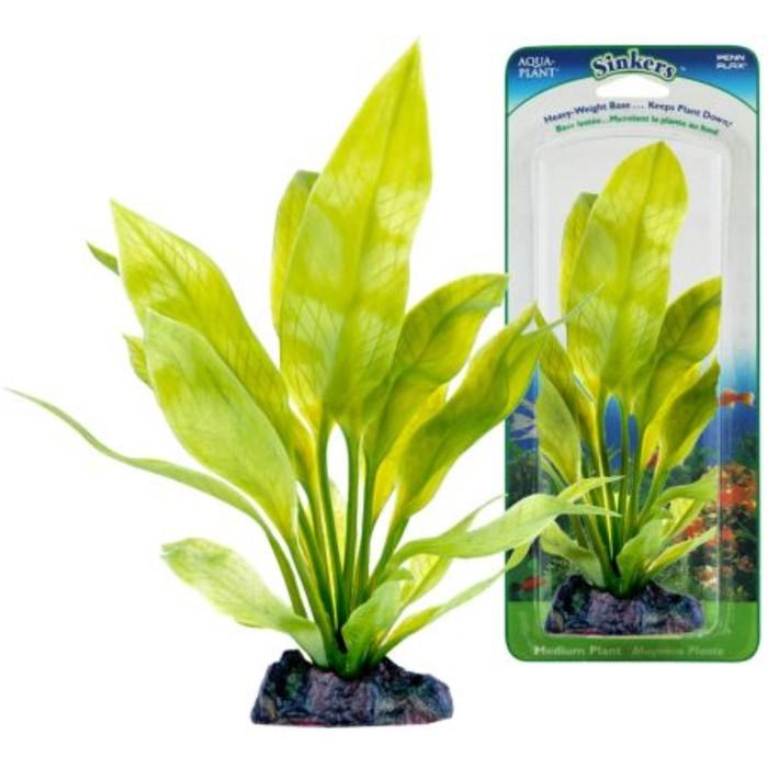 Растение PENN-PLAX AMAZON SWORD PLANT, 25см, с грузом, зеленое