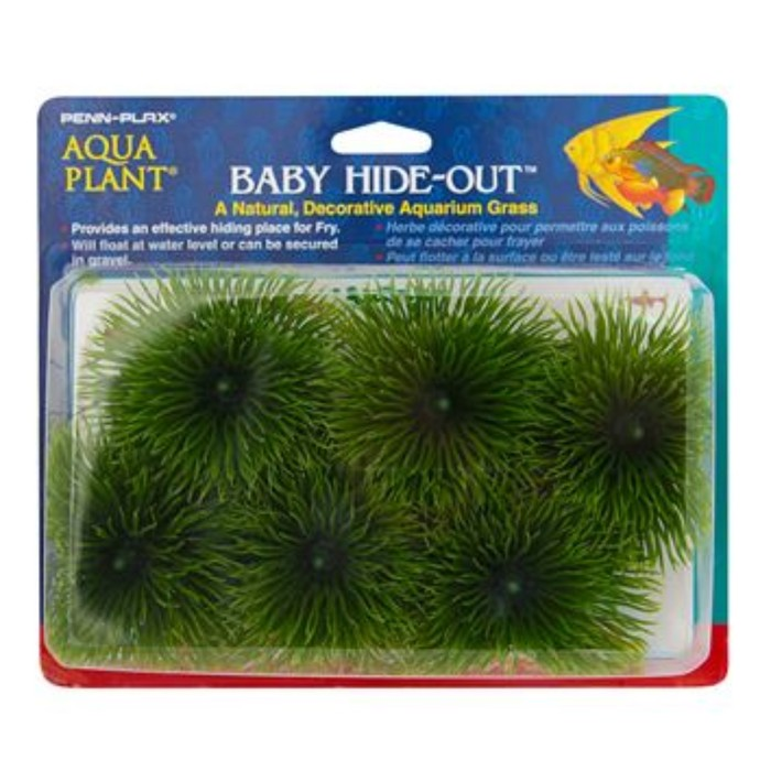 Растение PENN-PLAX BABY HIDE-OUT BREEDING GRASS, зеленое 6шт/упк