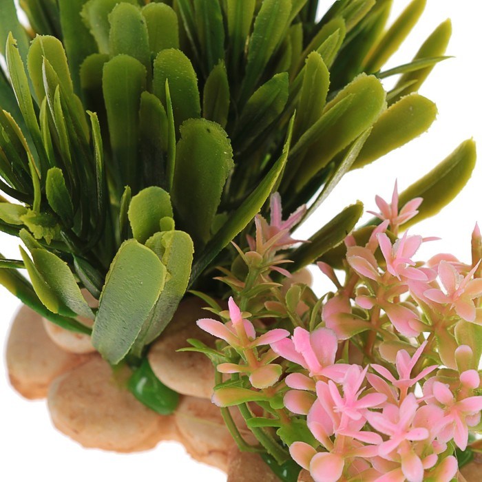 Растение искусственное аквариумное на подставке под камень, 14 х 11 х 7 см