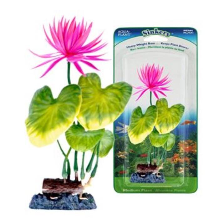 Растение PENN-PLAX RED WATER LILY, 22см, с грузом, крас-зеленое