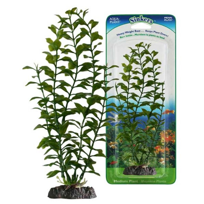 Растение PENN-PLAX BLOOMING LUDWIGIA, 27см, с грузом, зеленое