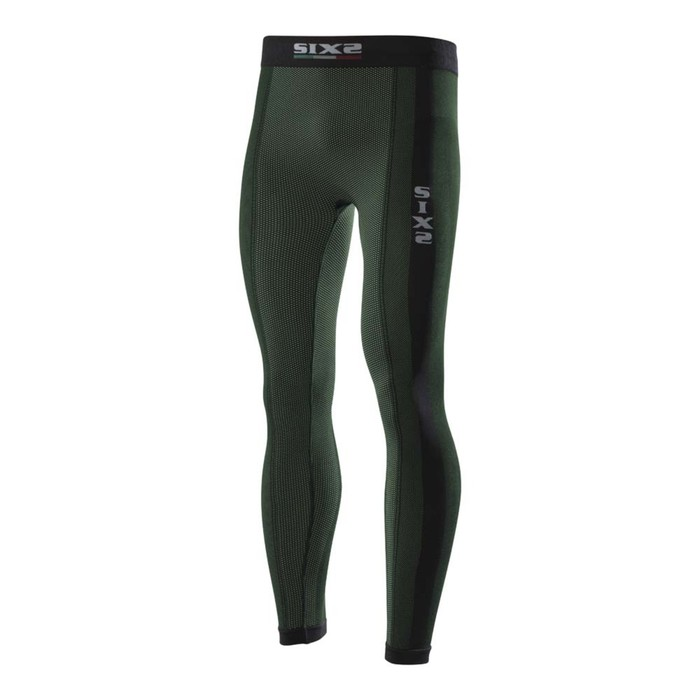 Термоштаны SIXS PNX, размер XL, чёрный, зелёный