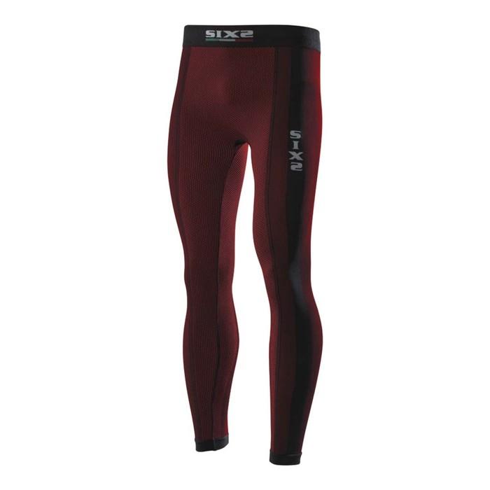 Термоштаны SIXS PNX, размер XL, чёрный, красный