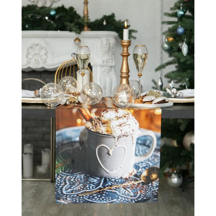 """Дорожка на стол """"Этель"""" Теплого Нового года 40х147 см, 100% хл, саржа 190 гр/м2"""