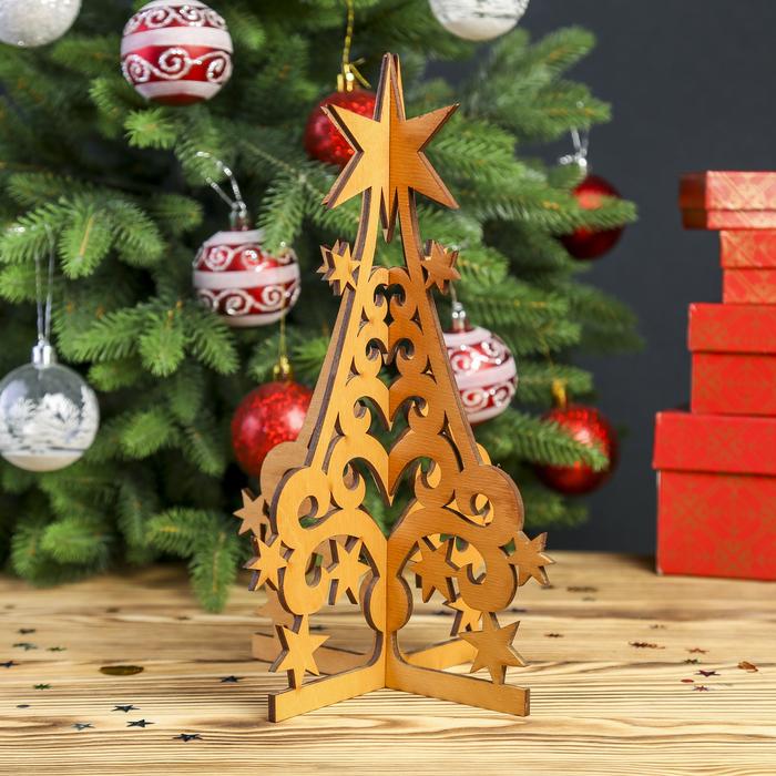 "Сувенир дерево ""Елочка"" 18,5х28 см (набор 2 детали)"